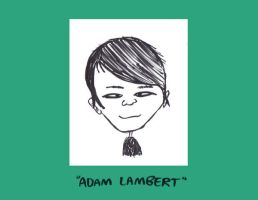 Adam Lambert Caricature by Sherkeylock