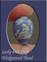 Lady and Dog Wedgwood Bead by nativeart