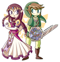 omg it's Zelda and Zelda by KleeKay423