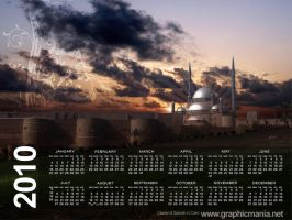 2010 Calendar and Wallpaper by rafiqelmansy