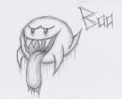 Mario Creepy Enemies #3: Boo by nick3529
