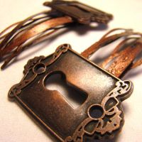 Copper Keyhole EGL Hair Clips by SteamSociety