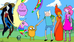 Adventure Time Group Shot by Joy-Pedler
