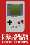 Gameboy Vector - Playing with Hand Cramps by tjhiphop