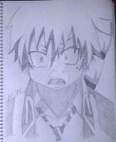 Ao No Exorcist: Rin Okumura Graphite Pencil Sketch by Tiha90