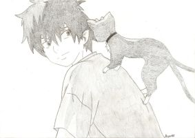 Ao no Exorcist by MeganeART