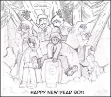 HAPPY NEW YEAR 2011 by SupernovaDreams