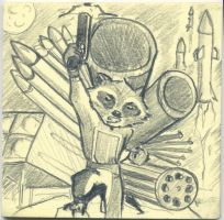 Rocket Raccoon Postit by jmaur82