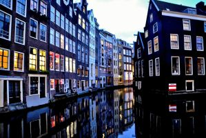 Amsterdam reflection by 0Emptiness0