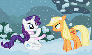RariJack in the snow by Fluttershy626