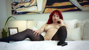 Andrea on her bed #29 by highstrangeness