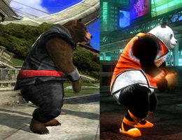 My Tekken 6 Kuma and Panda by TDIn6teenPwn