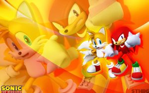 Tails And Knuckles Wallpaper by SonicTheHedgehogBG