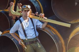 Steampunk Mechanic by Kifir