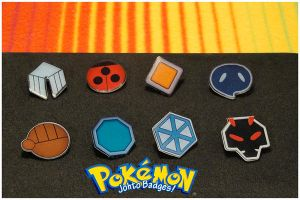PKMN: Johto Gym Badges by a-drawer-4ever