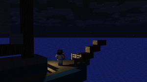 sailor man on the open sea [Minecraft] by Pondey