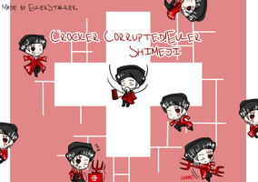 + Crocker Corrupted!Euler Shimeji + by Serket-XXI