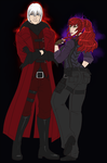 Devil May Cry 1 Dante and Syne by Syrae-Universe
