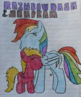 Request: Rainbow Dash and Sunbeam!!! by TopazBeats