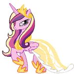Princess Cadence~ Pixel Art by CaptainRainbowz