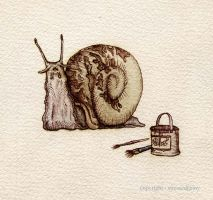 The Painted Snail by StressedJenny