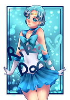 Sailor Mercury Remake + speedpaint process by rika-dono