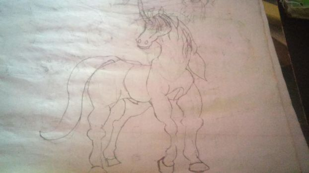 Unicorn Sketch by Horselover2471226