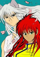 Collab: Kurama and Youko by loveanime