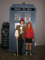 The Doctor and Amy Pond by ray-dnt