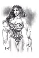 Wonder Woman Sketch by fernandomerlo