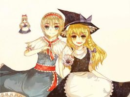 Marisa x Alice by ciceon