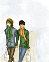 Wintertime walk by lovethepimphand