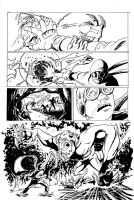 Isaac Vs. The Minions Page 3 Inks by justinprokowich