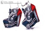 Thor inspired heels by Kasipallo