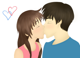 The Kiss by PrincessPyrefly