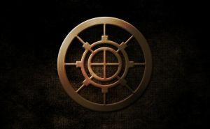 Gold steel circle by Wljump