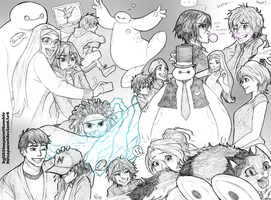Big Hero 6 - sketchpage by KGxspace