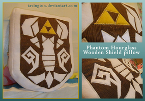 Phantom Hourglass Shield pillow by tavington