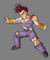Goten GT SSJG, Battle Damaged by theothersmen