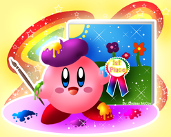 Kirby- Rainbow Artist by Annortha