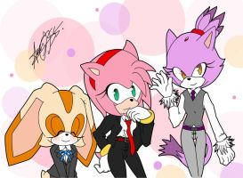 Girls suits by alexa015
