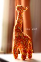 Giraffe Amigurumi crochet doll plush by BramaCrochet