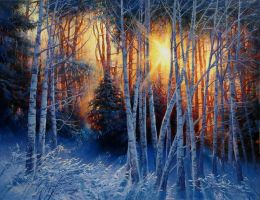 Winter fire by dolgopolov-victor