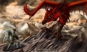 Rathalos Speedpainting by 666M666D666