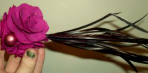 Floral and Feather Hair Peice by passiononpaper