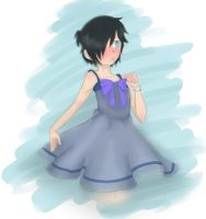 Zane in a dress.... by AyaMichelle