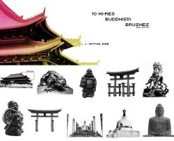 10 Hi-Res Buddhism Brushes 2 by onyx