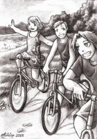 FMA: Riding The Bikes Sketch by Aileine