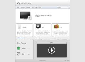 elementary homepage mockup by Aaron-A-Arts