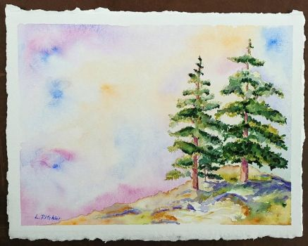 Two Sequoias by LenaRitchieArt